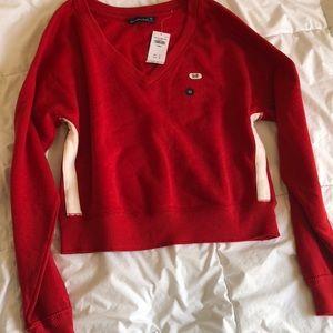 Red fleece shirt
